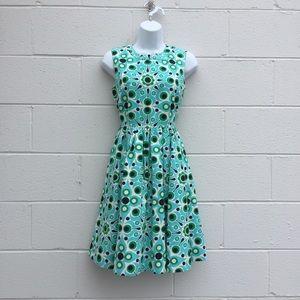 Kate Spade Blue and Green A-Line Dress